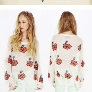 Wildfox Lennon Flowers Sweater